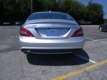 2013 MERCEDES BENZ CLS550 4MATIC - SILVER ON BLACK 4