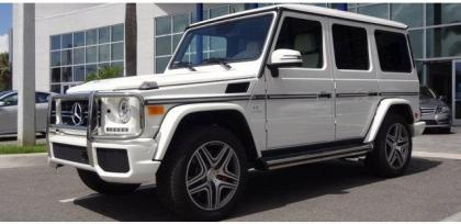 2013 MERCEDES BENZ G63 AMG - WHITE ON WHITE