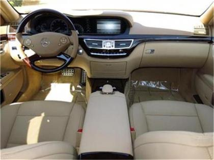 2013 MERCEDES BENZ S550 BASE - WHITE ON BEIGE 4