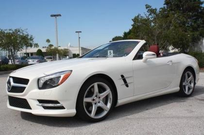 ... 2013 MERCEDES BENZ SL550 BASE   WHITE ON RED 2 ...
