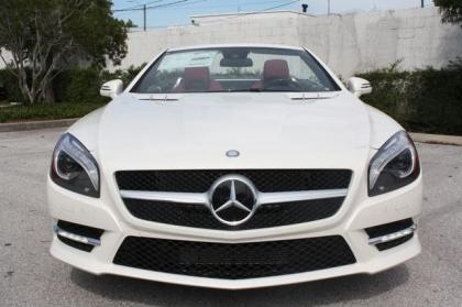 2013 MERCEDES BENZ SL550 BASE - WHITE ON RED 3