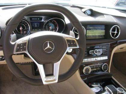 2013 MERCEDES BENZ SL63 SL CLASS - WHITE ON BEIGE 2