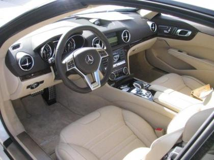 2013 MERCEDES BENZ SL63 SL CLASS - WHITE ON BEIGE 5