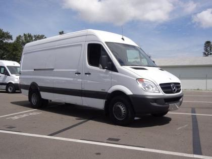 2013 MERCEDES BENZ SPRINTER 3500 HIGH ROOF - WHITE ON BLACK 1