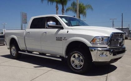 2013 RAM 2500 LARAMIE TRUCK CREW CAB - WHITE ON BLACK 1