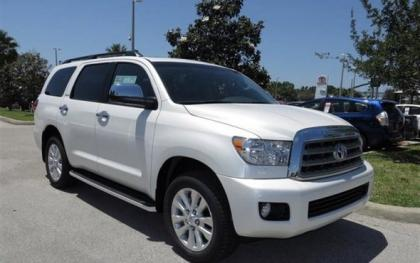 2013 TOYOTA SEQUOIA PLATINUM - WHITE ON GRAY
