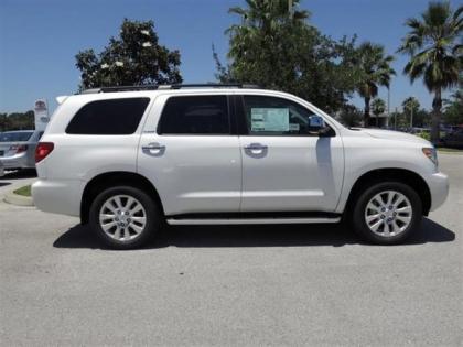 Export New 2013 Toyota Sequoia Platinum White On Gray
