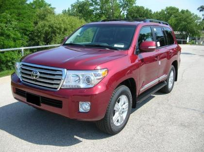 Export New 2013 Toyota Land Cruiser V8 Red On Black
