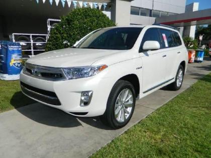 2013 TOYOTA HIGHLANDER HYBRID LIMITED - WHITE ON BEIGE