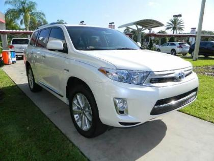 2013 TOYOTA HIGHLANDER HYBRID LIMITED - WHITE ON BEIGE 2