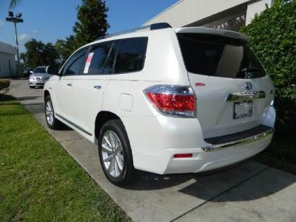 2013 TOYOTA HIGHLANDER HYBRID LIMITED - WHITE ON BEIGE 3