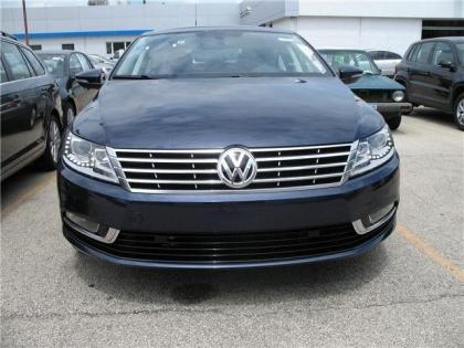 2013 VOLKSWAGEN CC EXECUTIVE - BLUE ON BLACK 2