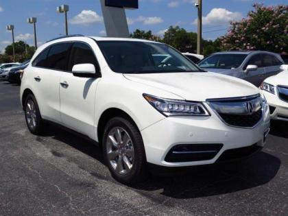 2014 ACURA MDX ADVANCE - WHITE ON BEIGE