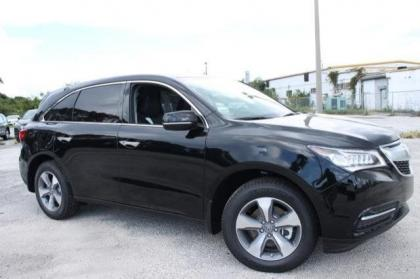 2014 ACURA MDX BASE - BLACK ON BLACK 1