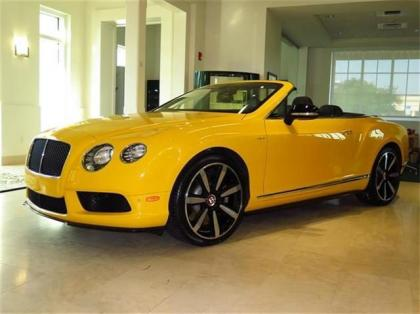 2014 BENTLEY CONTINENTAL GT - YELLOW ON BLACK