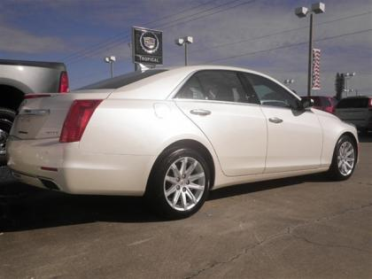 2014 CADILLAC CTS 2.0L TURBO I4 AWD - WHITE ON BLACK 2