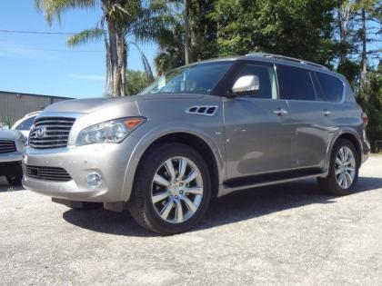 2014 INFINITI QX80 BASE - GRAY ON BLACK