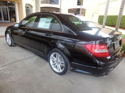 export new 2014 mercedes benz c250 sport black on black. Black Bedroom Furniture Sets. Home Design Ideas