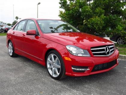 2014 MERCEDES BENZ C250 BASE - RED ON BEIGE