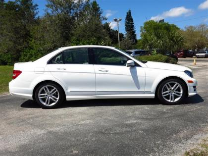 2014 MERCEDES BENZ C250 BASE - WHITE ON BEIGE 2