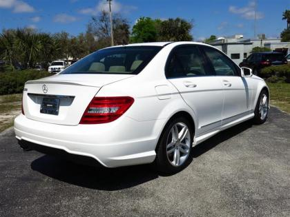 2014 MERCEDES BENZ C250 BASE - WHITE ON BEIGE 3