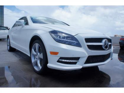 2014 MERCEDES BENZ CLS550 BASE - WHITE ON BROWN 1