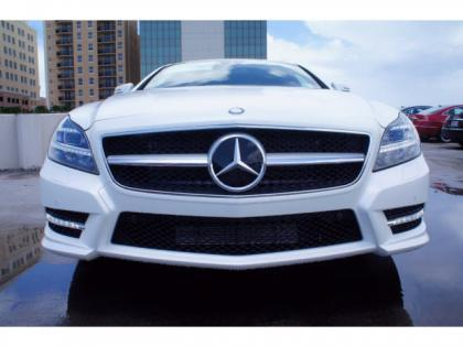 2014 MERCEDES BENZ CLS550 BASE - WHITE ON BROWN 2