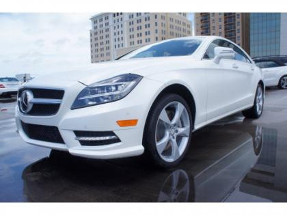 2014 MERCEDES BENZ CLS550 BASE - WHITE ON BROWN 3