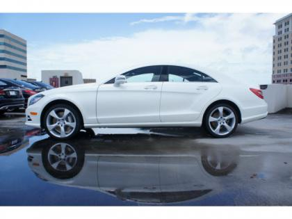 2014 MERCEDES BENZ CLS550 BASE - WHITE ON BROWN 4