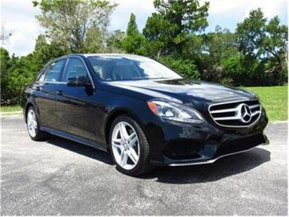 2014 MERCEDES BENZ E350 BASE - BLACK ON BEIGE 1