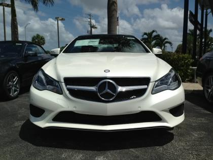 2014 MERCEDES BENZ E350 CONVERTIBLE - WHITE ON BEIGE 1