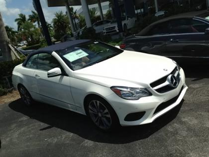 2014 MERCEDES BENZ E350 CONVERTIBLE - WHITE ON BEIGE 3