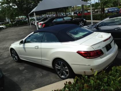2014 MERCEDES BENZ E350 CONVERTIBLE - WHITE ON BEIGE 5