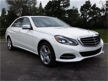 2014 MERCEDES BENZ E350 BASE - WHITE ON BLACK