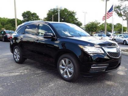 2015 ACURA MDX ADVANCE - BLACK ON BLACK