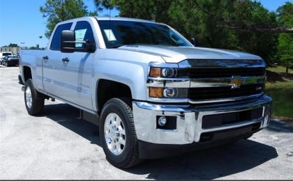 2015 CHEVROLET SILVERADO 2500HD - SILVER ON BLACK 1