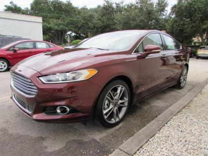 2015 FORD FUSION TITANIUM - RED ON BEIGE 1