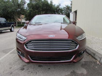 2015 FORD FUSION TITANIUM - RED ON BEIGE 2
