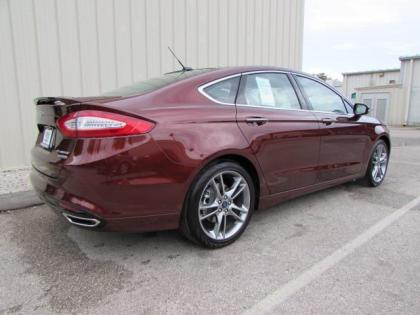 2015 FORD FUSION TITANIUM - RED ON BEIGE 4
