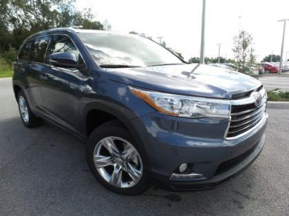 2015 TOYOTA HIGHLANDER LIMITED - BLUE ON GRAY