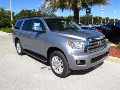 2015 TOYOTA SEQUOIA PLATINUM - SILVER ON BEIGE