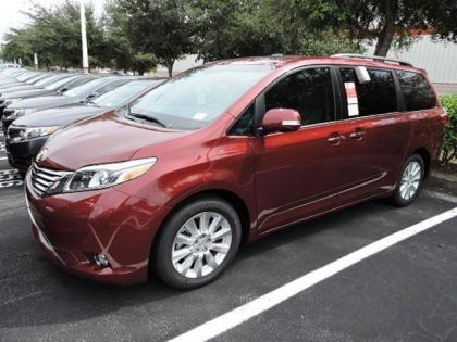 2015 TOYOTA SIENNA LIMITED - RED ON BEIGE