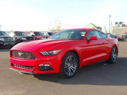 2017 FORD MUSTANG ECOBOOST - RED ON BLACK