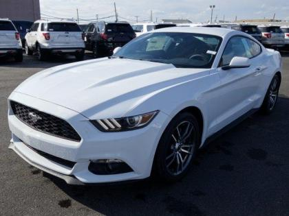 2017 FORD MUSTANG ECOBOOST - WHITE ON BLACK
