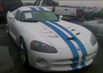 2009 DODGE VIPER SRT-10 - WHITE ON BLACK