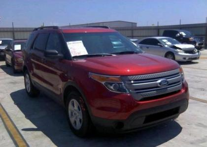 2013 FORD EXPLORER V6 - RED ON BEIGE