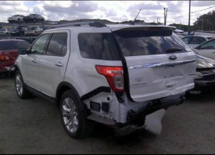 Export Salvage 2013 Ford Explorer Limited White On Beige