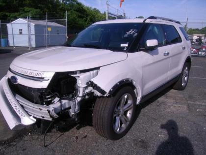 2013 FORD EXPLORER LIMITED - WHITE ON BEIGE