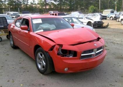 2010 DODGE CHARGER SXT - RED ON BLACK