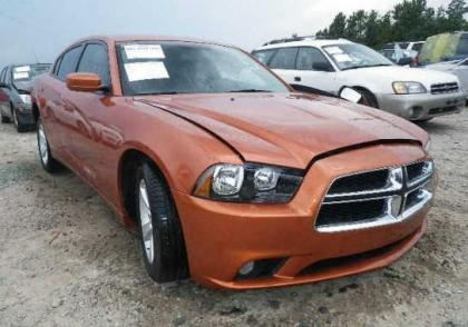 2011 DODGE CHARGER SXT - ORANGE ON BLACK